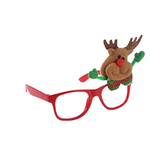 (Tinksky Weihnachtsfeier Brillen Lustige Sonnenbrillen Fanci-Frames Neuheit Brillen Weihnachtskostüm Ornamente Geschenke ohne Gläser)