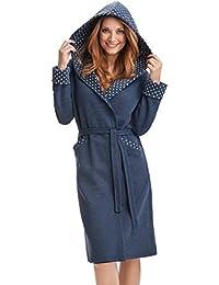 DOROTA kuscheliger und moderner Baumwoll-Bademantel mit Taschen, Bindeband & Kapuze - verschiedene Modelle