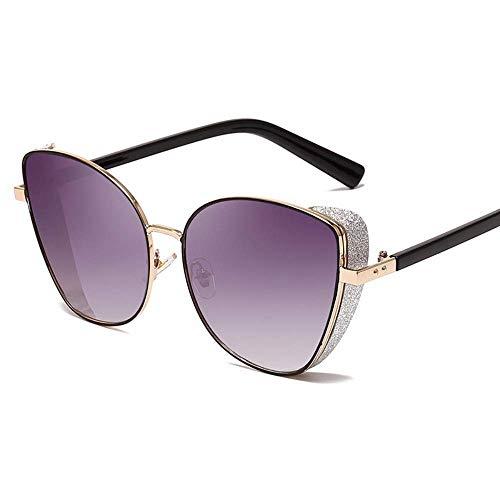 WYJW Sonnenbrille Sonnenbrille Mode Katzenauge Flash Dekoration Damen Anti-UV