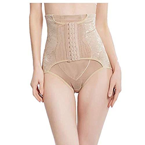 WUSIKY Damen Teen Mädchen Shapewear Abnehmen Unterwäsche Bauch Hohe Taille Hüfte Körper Korsett Control Slip 2019 Mode Elegante Damen Top(X-Large,Khaki) -