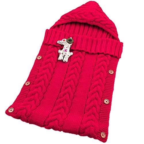 314ae07418 Baby Stricken Swaddle Wrap Decke Umschlag Für Neugeborene Mädchen Jungen  Häkeln Winter Pullover Schlafsack Stricken (Color : L)