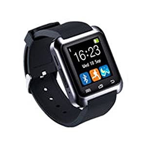 Ainstsk Bluetooth Smart Watch, Sport U8 Smartwatch Wrist Fitness Tracker Bracelet with Pedometer Music Player Call Reminder Remote Camera for IOS and Android Samsung Galaxy