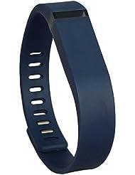 Recambio Bandcase tamaño grande y pequeño tamaño pulsera con broche Fitbit Flex de actividad y sueño rastreador (Tracker no incluir)) (marina, pequeño)