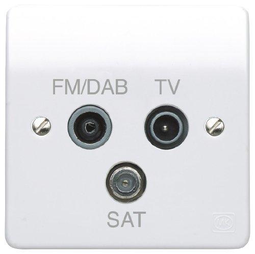 Preisvergleich Produktbild MK K3553DABWHI 1-Gang TV/FM Dab/SAT Triplexer by Mk