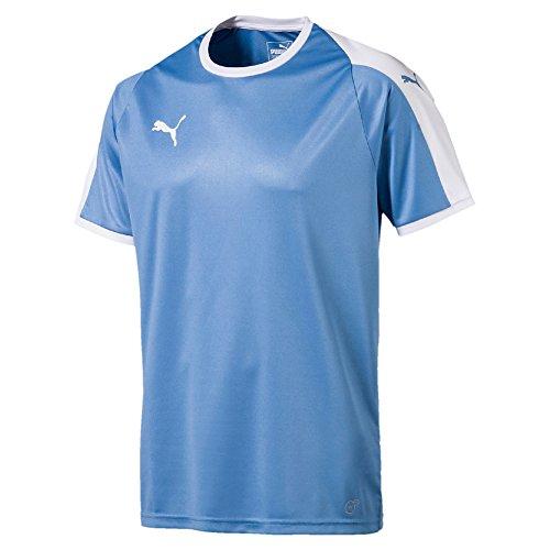 Puma Herren Liga Jersey T-Shirt, Silver Lake Blue White, L -
