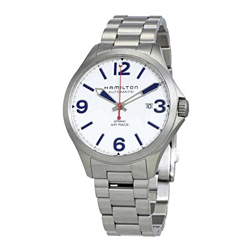 Hamilton H76525151 Men's Watch Silver Stainless Steel Special Edition Red Bull Khaki Air Race