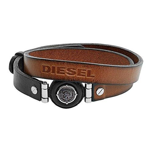 Diesel-Bracciale da Uomo in Acciaio Inox Marrone dx1021040, acciaio inossidabile, colore: marrone, cod. DX1021040