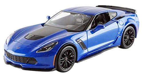 maisto-31133bl-chevrolet-corvette-z06-2015-echelle-1-24-bleu-metal-noir