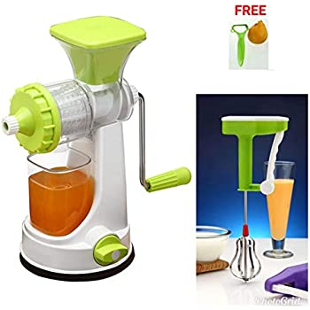 SELL ON Plastic Combo of Fruit and Vegetable Juicer and Hand Blender (Green)