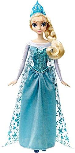 Frozen Mattel CJJ10 - Muñeca Elsa, princesa cantarina, 33 cm (canta en Francés, Español, Portugués e Italiano)