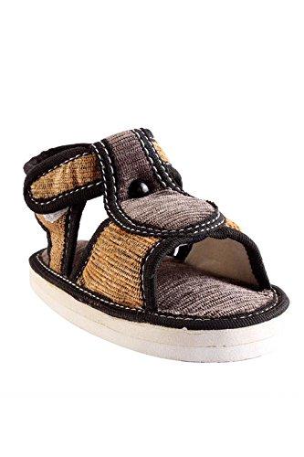 CHiU Chu-Chu Soft Cotton Black Sandal For 3-6 Months