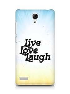 Amez Live Love Laugh Back Cover For Xiaomi Redmi Note 4G