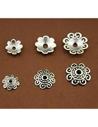 JBR 65 Unidades. Perlas de Metal tibetanas de 8 mm, 10 mm, 12 mm