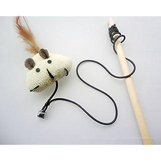 alltree Pet Katze Kätzchen Teaser Holz Stick Zauberstab, Leinen + Federn Ruten Spielzeug