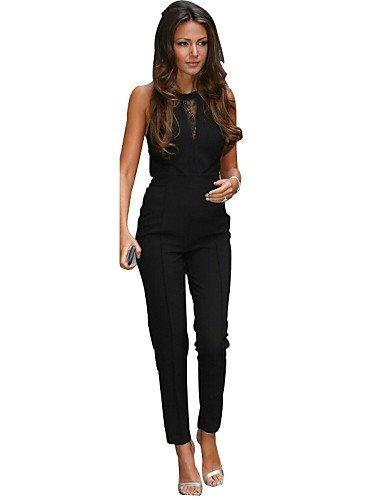GSP-Combinaisons Aux femmes Sans Manches Sexy Coton / Polyester Opaque Elastique black-m