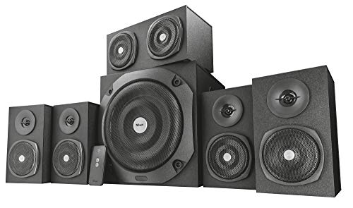 Trust Vigor 5.1 Surround Lautsprecher Set (mit Fernbedienung, 150 Watt) schwarz