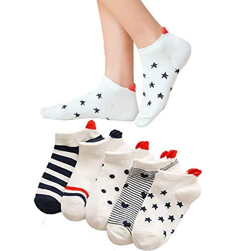 Bella & Flores Herzsocken, 5er-Pack, 35-39, Mehrfarbig Bella Sneaker