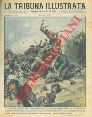 """Roma, 1930 settembre 21, copertina illustrata a colori in fascicolo originale completo di pp. 16 de """"La Tribuna illustrata - Supplemento illustrato de La Tribuna"""""""