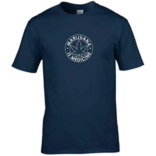 MEDICAL MARAJUANA Herren T shirt Blau - Navy