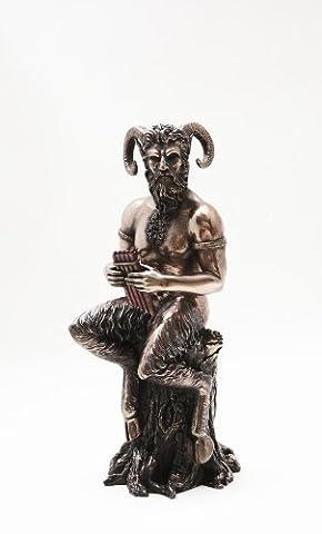 Pan Statue Greek god of Nature Figure Bronze Powder Cold