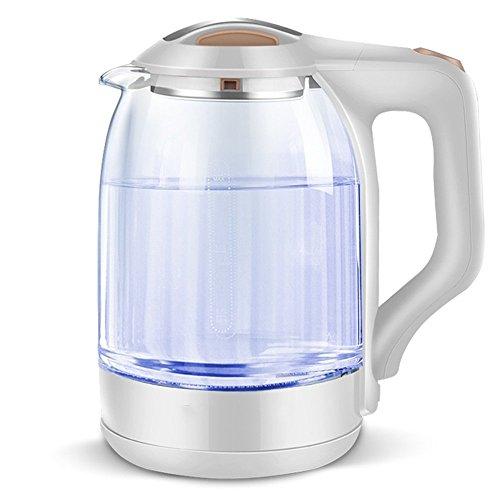 BCQ Elektrische Wasserkocher Hohe Borosilikatglas Weiß Grau Doppel Anti-Heiße Hohe Kapazität 1500 Watt 1.7L Abtrennbare Basis Automatische Abschaltung Isolierung Hause Reise - Glas Doppel-kessel