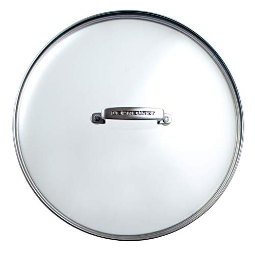 Le Creuset Tapa de cristal, Ø 30 cm, Práctico accesorio para las gamas de aluminio y hierro fundido...