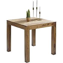 Wohnling wl1.319carré en Bois Massif Sheesham Table à Manger 80x 80cm