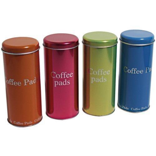 Paddose für Kaffeepads die neuen Metallic Dosen