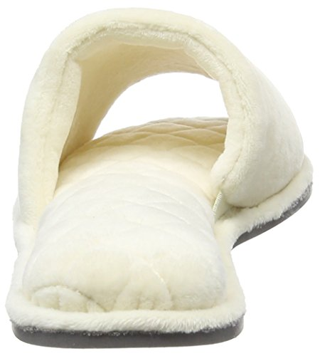 Dearfoams Damen Slide Pantoffeln Off-White (Alabaster)