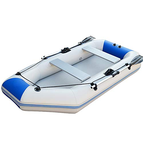 Feixunfan Kayaking Robustes Wasserdichtes Kajak Angriffsboot Upgrade Verdicktes Hartes Gummiboot Tragbares Komfortables Aufblasbares Fischerboot Verdickte Gummiboot (Farbe : Blau, Größe : 230cm) -