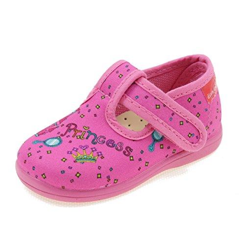 DIAMANTINO Pantofole Primi Passi in Tela Principessa OL1504F Fuxia Taglia   18 4abe9405447