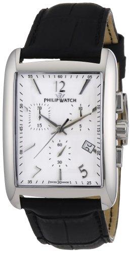Philip Watch R8271674001 - Reloj para caballero de cuero blanco