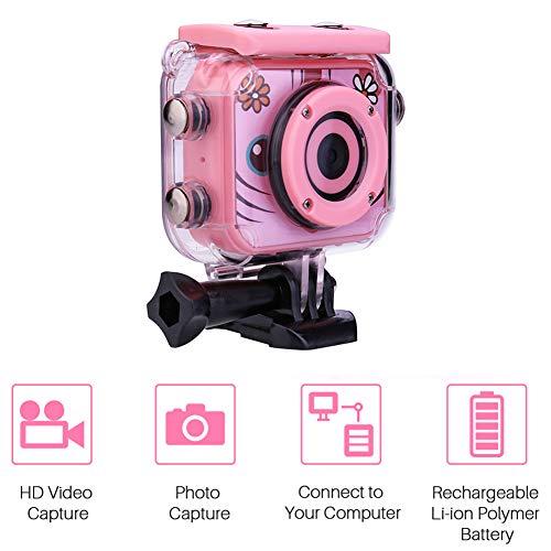 QLPP Wasserdichte Digital Kids Camera 12MP HD Underwater Action Cameras Camcorder mit 2,0
