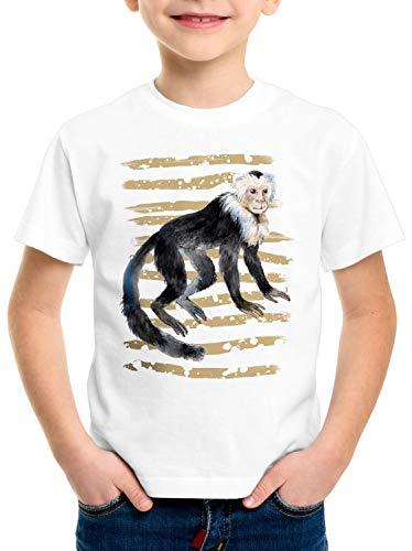 style3 AFFE T-Shirt für Kinder kapuziner Zoo Sommer, Größe:104