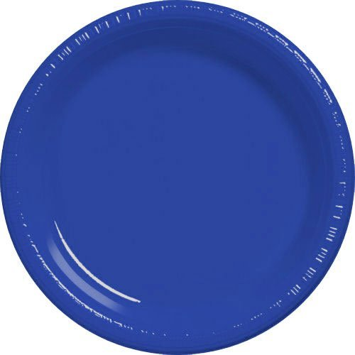 Plastic Plate 7 Inches Dark Blue Package of 50 by Fiesta celebration Fiesta Blue Plate