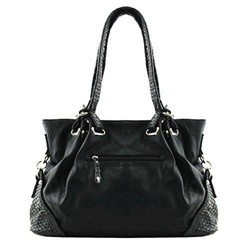 Blancho Biancheria da letto delle donne [carino] Cuoio borsa di modo elegante Borsa NERO BAG-BLACK
