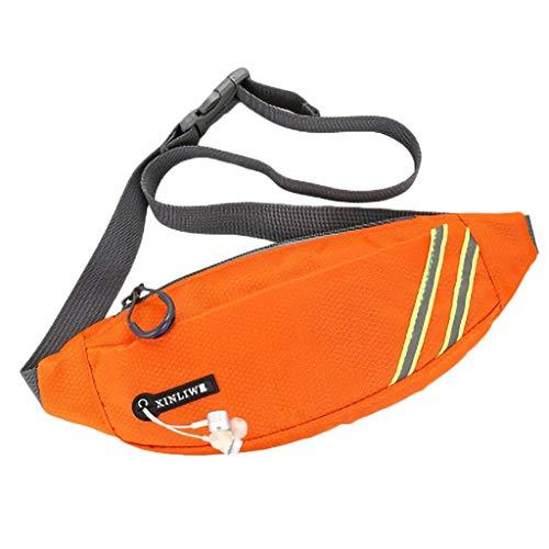 Ceally_Borse Marsupio Running Impermeabile, Marsupio Sportivo Cintura Regolabile con Jack per Cuffie Adatto per Viaggi, Escursioni, Corsa, Tour in Bicicletta