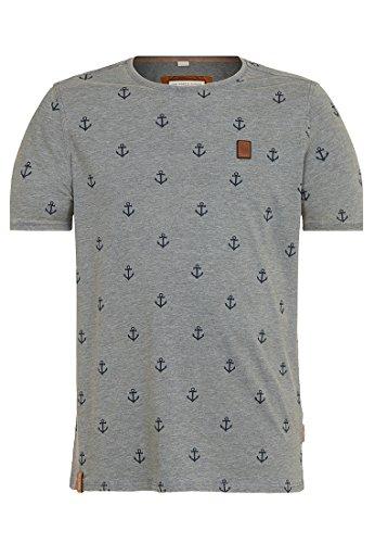 Herren T-Shirt Naketano El Master Del Buscho III T-Shirt L Heritage Dark Ash Melange