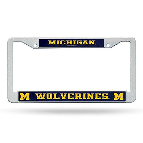 Preisvergleich Produktbild Unbekannt Rico NCAA Michigan Wolverines Kunststoff Teller Bilderrahmen,  Weiß / Schwarz,  30, 5 x 15, 2 cm