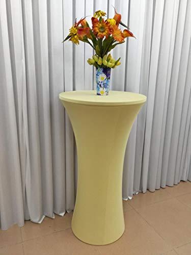 Farbige Lycra Spandex Stretch Cocktail Dry Bar Tischdecke Socke Tischdecke Hochzeit Party Hotel Dekoration, Champagner, 60cm Top Durchmesser (Farbige Tops Champagner)