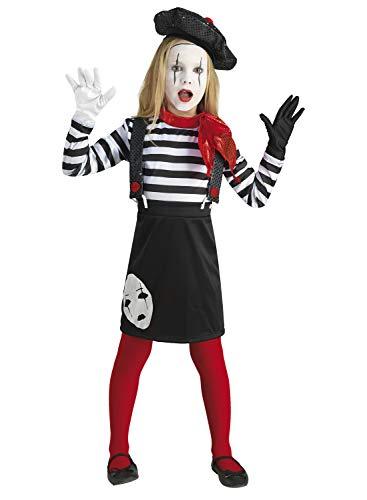 Kostüm Marceau Mime - chiber - Pantomime Kostüm für Mädchen (6-8 Jahre)
