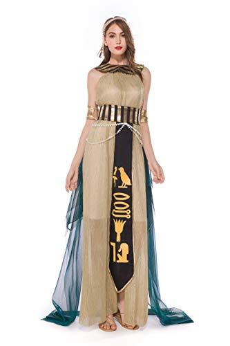QianBianDie Halloween-Kostüm für Erwachsene, Cosplay-Kostüm für Männer und Frauen, ägyptischer Pharao, König Kleopatra, Königin, Kostüme für Paare, Drama Performance Kleidung (Ägyptische Paare Kostüm)