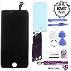 UBaymax Kit de Remplacement Ecran Compatible iPhone 6 Noir avec Outils Aimantés et LCD Tactile (Compatible iPhone 6 Black)