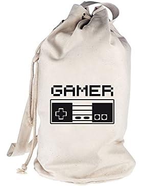 Shirtstreet24, Kult Controller, Gamer bedruckter Seesack Umhängetasche Schultertasche Beutel Bag
