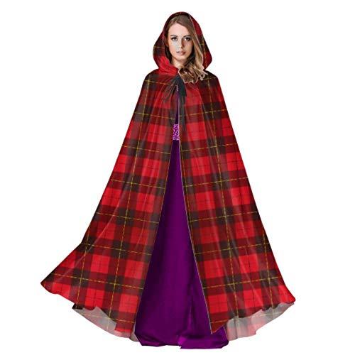 Kostüm Scottish Women's - Rtosd Wallace Tartan Scottish Plaid Womans Kapuzenmantel Hood Cloak Kids 59inch Für Weihnachten Halloween Cosplay Kostüme