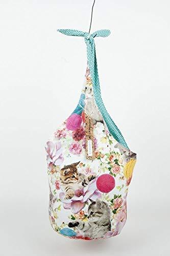 Umhängetasche Shopperbag Tasche Motiv Kätzchen & Wolle (65466) -