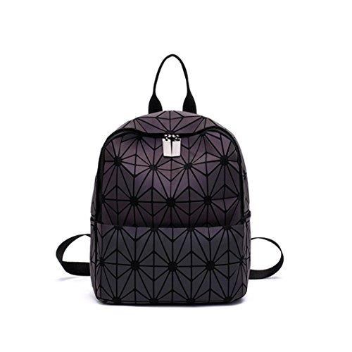 Diamant Mode Leucht Rucksack Frauen Geometrische Zurück Taschen Weibliche Bckpack Schultasche Mädchen 5