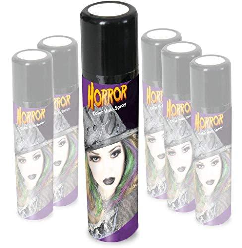 KarnevalsTeufel Halloween Schminkset Aquaschminkfarbe mit Zusatz nach Wahl Theaterschminke Spray (Spray Weiß)