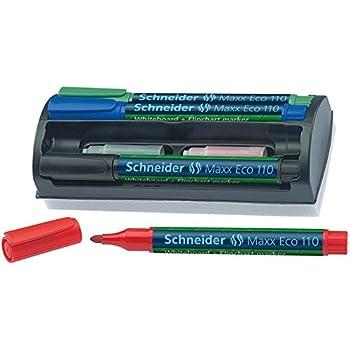 schneider maxx eco110 whiteboard kit marker halterung mit l 246 sch schwamm set mit je 4 marker
