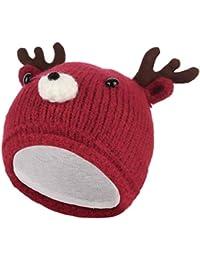 da9534fa315 GEMVIE Bonnet Bébé Unisexe Mignon Dessin Cerf Hat Chapeau d Animal  Déguisement Bonnet ...